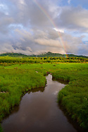 A rainbow stretches above a small tributary of the Blackwater River within Canaan Valley in West Virginia.