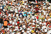 Belo Horizonte_MG, Brasil...Cerimonia de Beatificacao do Padre Eustaquio no Estadio do Mineirao, com a participacao do arcebisbo Metropolitano de Belo Horizonte, Dom Walmor Oliveira e o Cardeal Jose Saraiva Martins (Portugal)...The beatification of the Estaquio priest in the Minerao stadium, with participation of Walmor Oliveira archbishop and Jose Saraiva Martins cardinal (Portugal)...Foto: LEO DRUMOND / NITRO