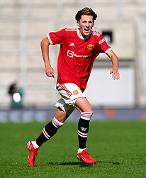 Manchester United's Charlie Savage during the UEFA Youth League, Group F match at Leigh Sports Village, Manchester. Picture date: Wednesday September 29, 2021.