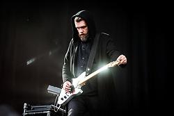 June 17, 2018 - Landgraaf, Limburg, Netherlands - Justin Lockey of Editors performing live at Pinkpop Festival 2018 in Landgraaf, Netherlands, on 17 June 2018. (Credit Image: © Roberto Finizio/NurPhoto via ZUMA Press)