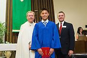 Sacred Heart Middle School celebrates its Class of 2016 graduation at Sacred Heart Middle School in Saratoga, California, on June 3, 2016. (Stan Olszewski/SOSKIphoto)