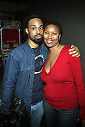 l to r: Bilal and Tracey Moore(Jazzy Fat Nasty) at The ROOTS Present the Jam Produced by Jill Newman Productions on March 19, 2009 held at Highline Ballroom in New York City.