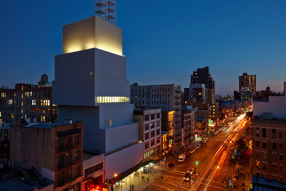 View of the New Museum and the Bowery from 250 Bowery, Penthouse