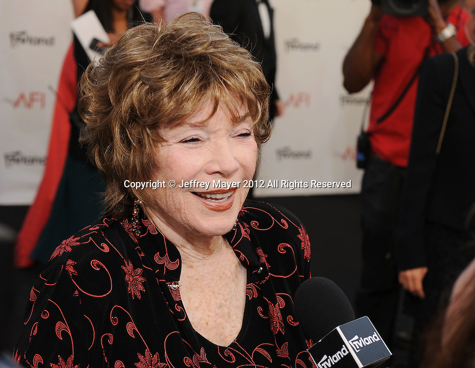LOS ANGELES, CA - JUNE 07: Shirley MacLaine arrives at the 40th AFI Life Achievement Award honoring Shirley MacLaine at Sony Pictures Studios on June 7, 2012 in Los Angeles, California.