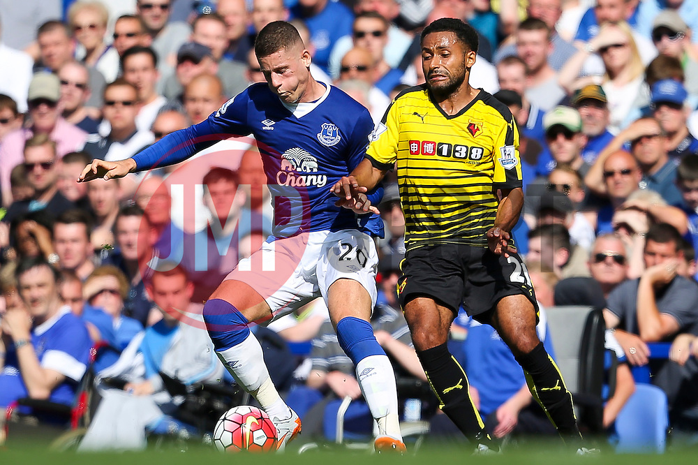 Everton's Ross Barkley in action with Watford's Ikechi Anya  - Mandatory byline: Matt McNulty/JMP - 07966386802 - 08/08/2015 - FOOTBALL - Goodison Park -Liverpool,England - Everton v Watford - Barclays Premier League