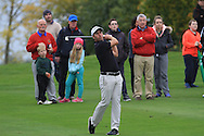 Nino Bertasio (ITA) on the 15th fairway during Round 3 of the Volopa Irish Challenge in Tullow, Co. Carlow on Saturday 10th October 2015.<br /> Picture:  Thos Caffrey / www.golffile.ie