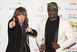 Victoria House, London, April 26th 2016.  Simon Bartholomew and Andrew Love Levy of the Brand New Heavies photographed at the Jazz FM awards at Victoria House, Bloomsbury, London.