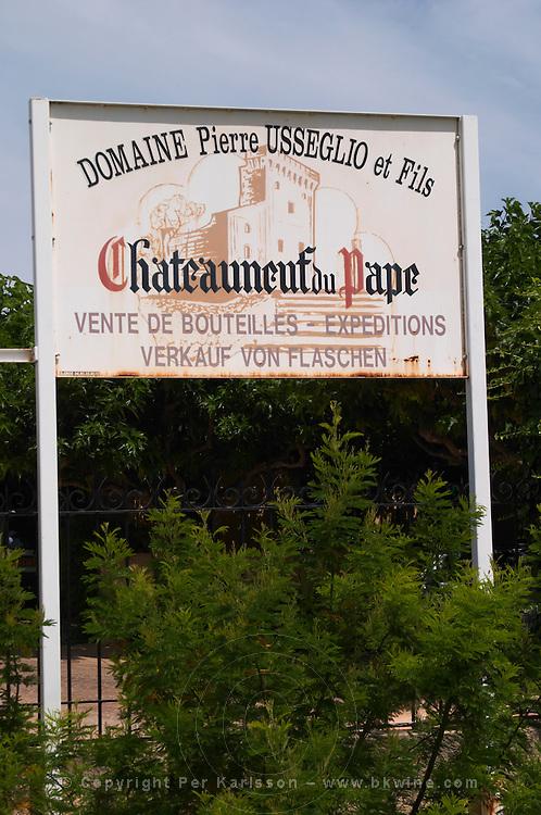 domaine p usseglio chateauneuf du pape rhone france
