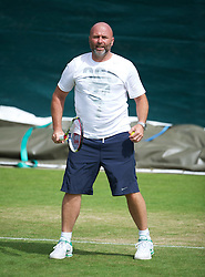 26.06.2012, Wimbledon, London, GBR, WTA, The Championships Wimbledon, im Bild Petra Kvitova's coach coach David Kotyza practices during day two of the WTA Tour Wimbledon Lawn Tennis Championships at the All England Lawn Tennis and Croquet Club, London, Great Britain on 2012/06/26. EXPA Pictures © 2012, PhotoCredit: EXPA/ Propagandaphoto/ David Rawcliff..***** ATTENTION - OUT OF ENG, GBR, UK *****