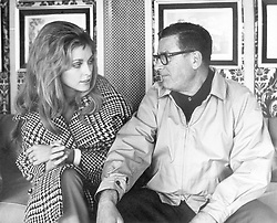American actress Sharon Tate discussing with Canadian director Mark Robson on the set of the film 'Valley of the Dolls'. USA, 15th June 1967 (Credit Image: © Mondadori Portfolio via ZUMA Press)