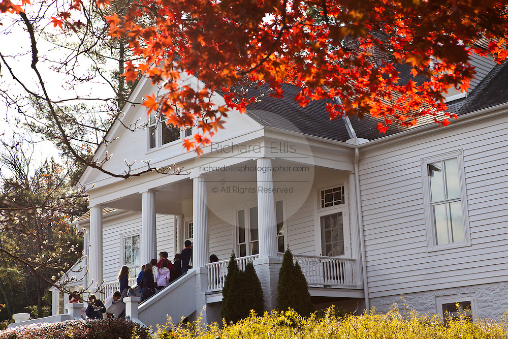View of the home of author and poet Carl Sandburg in Flat Rock, NC
