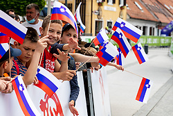 The fans with flags during 2nd Stage of 27th Tour of Slovenia 2021 cycling race between Zalec and Celje (147 km), on June 10, 2021 in Slovenia. Photo by Matic Klansek Velej / Sportida