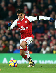November 29, 2017 - London, England, United Kingdom - Arsenal's Alexis Sanchez..during Premier League match between Arsenal and Huddersfield Town at Emirates Stadium, London,  England on 29 Nov   2017. (Credit Image: © Kieran Galvin/NurPhoto via ZUMA Press)