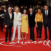 Matthew Weiner,Marthe Keller ,Jing Lusi, Adele Anderson, Ines Melab and Hugh Skinner attend The Romanoffs - World Premiere at CURZON MAYFAIR, London, Uk. 2nd October 2018.