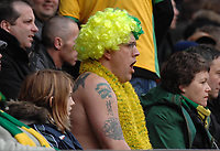 Photo: Ashley Pickering.<br /> Norwich City v Coventry City. Coca Cola Championship. 24/02/2007.<br /> A Norwich fans yawns as he watches his sides dire first half display
