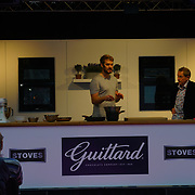 Chef John Whaite demonstration at The Chocolate Show, at the Olympia exhibit center in London on October 13, 2017 is the ultimate celebration of all things cocoa-related.