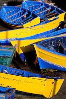 Maroc, Essaouira, Patrimoine mondial de l'UNESCO, le port de peche // Morocco, Medina of Essaouira, Atlantic coast, Unesco world heritage, fishing harbour