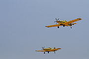 Two Air Tractor AT-802F fire fighting planes Photographed in Haifa, Israel