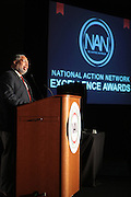 April 17, 2012 Washington, D.C: Honoree Lonnie G. Bunch, Founding Director Smithsonian's National Museum of African American History & Culture attends Rev. Al Sharpton's  2012 National Action Network Convention held at the Walter E. Washington Convention Center from April 11-14, 2012 in Washington, D.C ..National Action Network (NAN) is one of the leading civil rights organizations in America and is at the forefront of the social justice movement, confronting issues such as police misconduct and abuse, voter rights, education, workers' right, healthcare awareness, anti-violence and more. Founded in New York City in 1991 by Rev. Al Sharpton and a group of activists, NAN is committed to the principles of nonviolent activism and civil disobedience as a direct outgrowth of the movement that was lead by the Rev. Dr. Martin Luther King, Jr. .(Photo by Terrence Jennings)