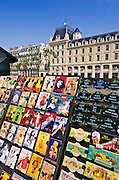 Souvenirs for sale along the Seine, Paris, France