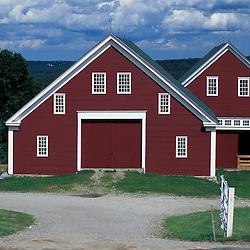 New Gloucester, ME.The barn at the Sabbathday Lake Shaker Village.