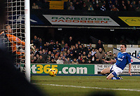 Photo: Ashley Pickering.<br />Ipswich Town v Birmingham City. Coca Cola Championship. 01/01/2007.<br />Gavin Williams strikes home the winning goal for Ipswich (1-0)