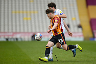 Bradford City Connor Wood (23) attacking during the EFL Sky Bet League 2 match between Bradford City and Scunthorpe United at the Utilita Energy Stadium, Bradford, England on 1 May 2021.