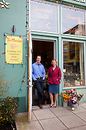 Mark and Jennifer Bitterman, owners of The Meadow, a salt shop in the North Mississippi neighborhood of Portland, Oregon