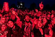 Henham Park, Suffolk, 19 July 2019. Fans watch as George Ezra plays the Obelisk Stage - The 2019 Latitude Festival.