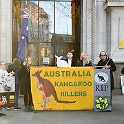 A Vigil for Kangaroo the Australian Embassy, London, UK