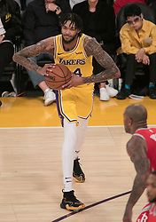 October 20, 2018 - Los Angeles, California, U.S - Brandon Ingram #14 of the Los Angeles Lakers looks to pass during their NBA game with the Houston Rockets on Saturday October 20, 2018 at the Staples Center in Los Angeles, California. (Credit Image: © Prensa Internacional via ZUMA Wire)