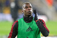 Manchester United Midfielder Paul Pogba warm up during the The FA Cup match between Wolverhampton Wanderers and Manchester United at Molineux, Wolverhampton, England on 16 March 2019.