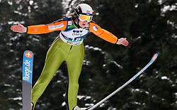 Wendy Vuik of Netherlands during Normal Hill Individual Competition at FIS World Cup Ski jumping Ladies Ljubno 2012, on February 11, 2012 in Ljubno ob Savinji, Slovenia. (Photo By Vid Ponikvar / Sportida.com)