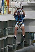 The launch of Royal Caribbean International's Oasis of the Seas, the worlds largest cruise ship..The Zip line