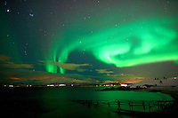 Northern Lights from Telegrafbukta Beach in Tromsø Norway. Image taken with a Nikon D800 and 24 mm f/1.4 lens (ISO 800, 24 mm, f/2, 8 sec). Raw image processed with Capture One Pro 7..