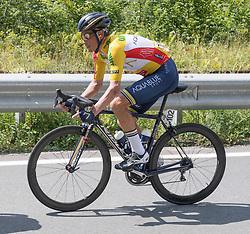 08.07.2017, Wels, AUT, Ö-Tour, Österreich Radrundfahrt 2017, 6. Etappe von St. Johann/Alpendorf nach Wels (203,9 km), im Bild Stefan Denifl (AUT, Team Aqua Blue Sport) im gelben Trikot // Stefan Denifl of Austria (Aqua Blue Sport) in the yellow jersey during the 6th stage from St. Johann/Alpendorf to Wels (203,9 km) of 2017 Tour of Austria. Wels, Austria on 2017/07/08. EXPA Pictures © 2017, PhotoCredit: EXPA/ Reinhard Eisenbauer