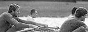 London. United Kingdom.  1987 Pre Fixture, Varsity Boat Race. National Squad vs Cambridge University BC on the Championship Course Mortlake to Putney. River Thames.  Saturday 21.03.1987<br /> <br /> [Mandatory Credit: Peter SPURRIER/Intersport images]<br /> <br /> National Squad, left, Steve REDGRAVE, Adam CLIFT, 19870321 Pre Boat Race fixture, National Squard vs Cambridge UBC, London UK