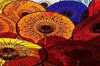 Myanmar (ex Birmanie), Etat d'Ayeyarwaddy, Fabrique d'ombrelles à Pathein // Myanmar (Burma), Ayeyarwaddy state, Umbrella factory at Pathein