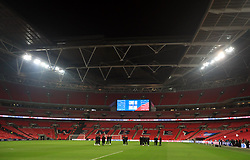 England players on the pitch before the International Friendly at Wembley Stadium, London. PRESS ASSOCIATION Photo. Picture date: Thursday November 15, 2018. See PA story SOCCER England. Photo credit should read: Mike Egerton/PA Wire. RESTRICTIONS: Use subject to FA restrictions. Editorial use only. Commercial use only with prior written consent of the FA. No editing except cropping.