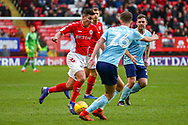 Charlton Athletic midfielder Krystian Bielik (4) on loan from Arsenal, on the ball during the EFL Sky Bet League 1 match between Charlton Athletic and Accrington Stanley at The Valley, London, England on 19 January 2019.