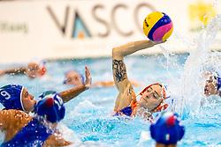 DEN HAAG, NETHERLANDS - JULY 1: #4 Sabrina van der Sloot (Netherlands) during the Women friendly waterpolo match Netherlands v Italy - Uitzwaaiwedstrijden 2021 at Zwembad het Hofbad on July 2, 2021 in Den Haag, Netherlands (Photo by Ron Hoenson/Orange Pictures)