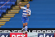 GOAL - Roy Beerens of Reading celebrates after scoring his sides 1st goal to make it 1-0. EFL Skybet  championship match, Reading  v Huddersfield Town at The Madejski Stadium in Reading, Berkshire on Saturday 24th September 2016.<br /> pic by John Patrick Fletcher, Andrew Orchard sports photography.