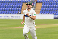 Will Davis during the Specsavers County Champ Div 2 match between Glamorgan County Cricket Club and Leicestershire County Cricket Club at the SWALEC Stadium, Cardiff, United Kingdom on 16 September 2019.