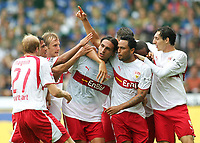 Fotball<br /> Bundesliga Tyskland<br /> Foto: Witters/Digitalsport<br /> NORWAY ONLY<br /> <br /> 20.08.2006<br /> Jubel 0:1 v.l. Ludovic Magnin, Pavel Pardo, Daniel Bierofka, Fernando Meira, Antonio Da Silva, Cacau, Roberto Hilbert<br /> Fussball Bundesliga DSC Arminia Bielefeld - VfB Stuttgart