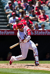 June 3, 2018 - Anaheim, CA, U.S. - ANAHEIM, CA - JUNE 03: Los Angeles Angels third baseman Zack Cozart (7) during the MLB regular season game against the Texas Rangers on June 03, 2018 at Angel Stadium of Anaheim in Anaheim, CA. (Photo by Ric Tapia/Icon Sportswire) (Credit Image: © Ric Tapia/Icon SMI via ZUMA Press)