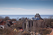 St.Nicolai (St.Nicolaus) church ruins, Visby, Gotland, Sweden. Built 1230. Concert hall adaption and new roof , 2012 Architect:  Exners Tegnestue A/S,  Engineer: Søren Jensen