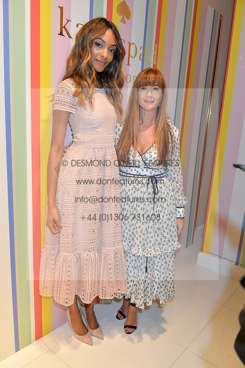 Left to right, JOURDAN DUNN and DEBORAH LLOYD at the opening party of the new Kate Spade New York store at 182 Regent Street, London on 21st April 2016.