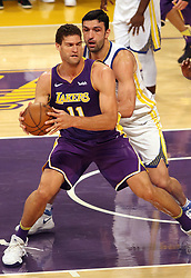November 29, 2017 - Los Angeles, California, U.S - Brook Lopez #11 of the Los Angeles Lakers with the ball during their game with the Golden State Warriors on Wednesday November 29, 2017 at the Staples Center in Los Angeles, California. Lakers lose to Warriors, 127-123. (Credit Image: © Prensa Internacional via ZUMA Wire)
