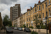 Cotton Garden Estate in the London Borough of Lambeth on 3rd August 2016 in London, United Kingdom. Cotton Garden Estate was designed by the architect George Finch and completed in 1968