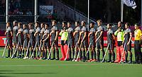 ANTWERPEN -  line up Oranje  tijdens halve finale  mannen, Nederland-Spanje (3-4)  ,  bij het Europees kampioenschap hockey.  COPYRIGHT KOEN SUYK
